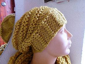 Čiapky - žltá čiapka DORINA - 4912319_