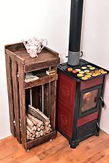 Nábytok - Regál na drevo pojazdný... - 4910229_