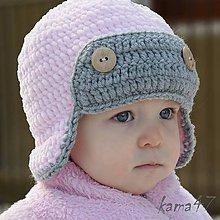 Detské čiapky - Zimná... letecká II.  - 4911525_