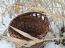 Košíky - Ebenový košík - 4910167_