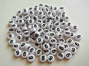 Korálky - Korálky číslice 9 - 4911118_