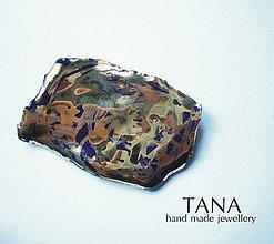 Odznaky/Brošne - Tana šperky - keramika/zlato - 4913029_
