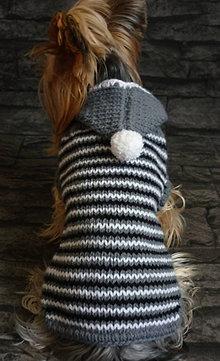 Pre zvieratká - Pletený v sivom - 4911309_