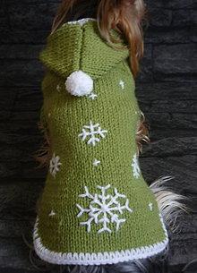 Pre zvieratká - Zelený s vločkami - 4911340_
