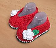 Topánočky - Červené balerínky - 4917340_