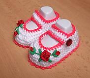 Topánočky - Papučky pre najmenšie princezné - 4917448_