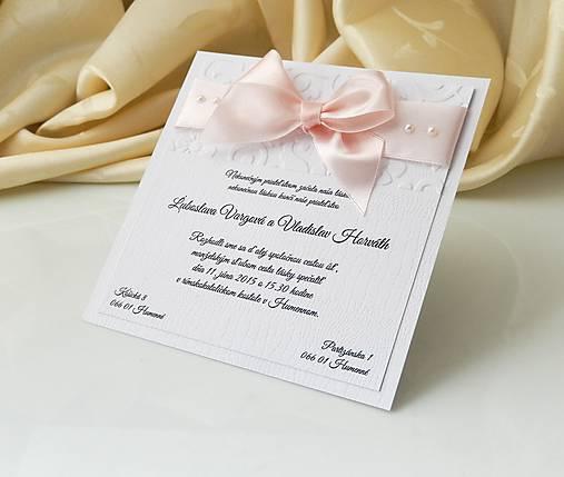 5843cad427d2 Svadobné oznámenie Pearl   Anije - SAShE.sk - Handmade Papiernictvo