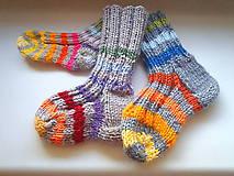 Detské ponožky rôzne veľkosti