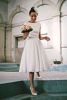 Šaty - elegantné hodvábene svadobné šaty pre sl.A - 4913576_