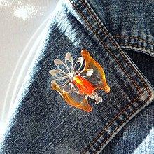 Odznaky/Brošne - Motýlia brošňa - 4915113_