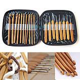 - Sada 20tich bambusových háčikov v púzdierku - 4913674_