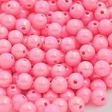 Plastové rúžové korálky 8mm (balíček 30ks)