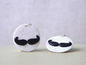 Náušnice - Moustache - 4918991_