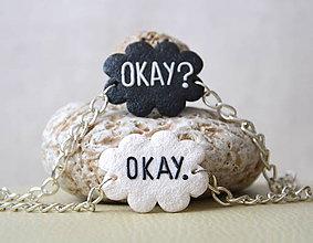 Náramky - OKAY? OKAY. (pár) - 4919405_