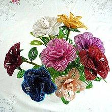 Dekorácie - Růže modrá....velká - 4919707_