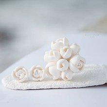 Sady šperkov - innocence - biela sada s prsteňom a napichovačkami - 4920878_