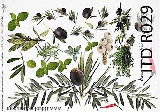 Papier - ryžový papier cesnak,olivy,bylinky - 4918603_