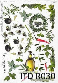 Papier - ryžový papier olivy a olej - 4918609_