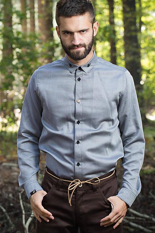 0b9253d6b9cd ZĽAVA 30% - Vix - pánska košeľa   pattern - SAShE.sk - Handmade ...