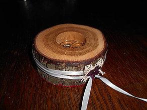 Prstene - vintage svadobná podložka na obrúčky - 4921296_