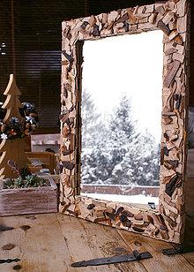 Zrkadlá - Zrkadlo zdobene stiepkou - 4918478_