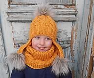 Detské čiapky - horčicovy setik.. - 4923015_