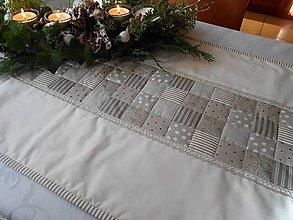 Úžitkový textil - veľká patchwork štola na stol  š 50 x d 140 podšitá - 4924065_