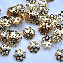 Komponenty - Kaplík kvet 8mm-zlatý-20ks - 4922121_