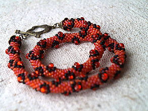 Náhrdelníky - oranžový kvetinkový - 4921846_