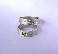 Prstene - strieborné obrúčky spojenie - 4921443_