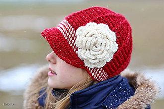 Detské čiapky - maslová ružička - 4921459_