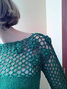 Svetre/Pulóvre - zelený pulover - 4924493_
