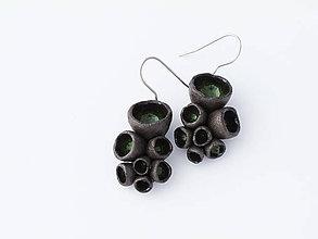 Náušnice - korály zelené - 4925237_