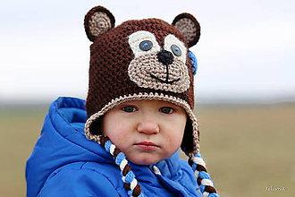 Detské čiapky - malý macko - 4924512_