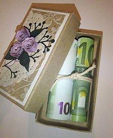 Papiernictvo - Darčeková krabička na peniažky pre novomanželov - 4930957_