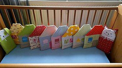Textil - Hniezdo farebné domčeky - 4928335_