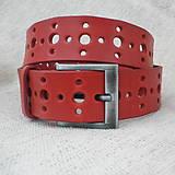 Opasky - Opasek děrovaný červený - 4928070_