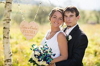 Tabuľky - Svadobné srdce ♥ - 4931244_