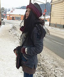 Čiapky - homeless -čiapka,nákrčník a rukavice - 4930201_