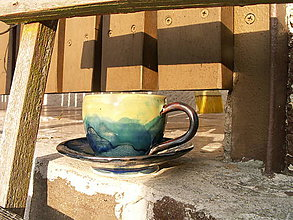 """Nádoby - Šálka espresso """"nebo a zem"""" - 4928234_"""