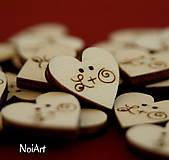 Srdiečka na svadobné pierka