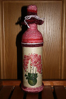 Nádoby - Fľaša na víno - orchidea - 4934786_