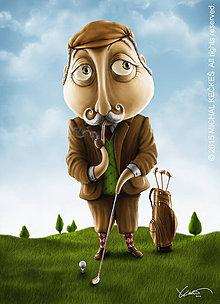Grafika - Ilustrácia Golfman - 4934783_