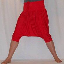 Nohavice - Turky - Sukňa červený bambus 3/4 - 4934550_