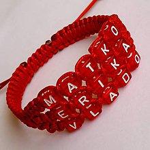 Náramky - Shamballa náramok s písmenkami - 4932570_