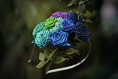 Ozdoby do vlasov - Modré ríbezle - 4937524_