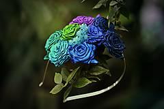 Ozdoby do vlasov - Modré ríbezle - 4937592_