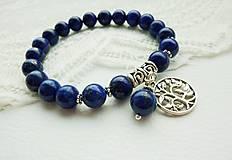 Náramky - Náramok Lapis Lazuli: kameň pokoja... - 4935620_