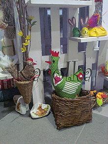 Dekorácie - Veľkonočná dekorácia - vtáčik / Moja kurka Zelená - 4937453_