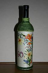 Nádoby - Narodeninová fľaša-kvetinková - 4937984_